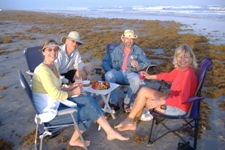 RV Cooking Show Young Fulltime RVers on the Beach